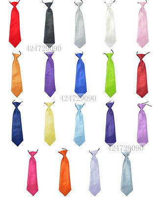 Solid Classic Vintage Childrens Kid Neck Tie Necktie Silk Boys Girls YHD0001a
