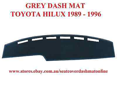 Dash Mat, Dashmat, Dashboard Cover Fit Toyota Hilux 1989-1996,  Grey