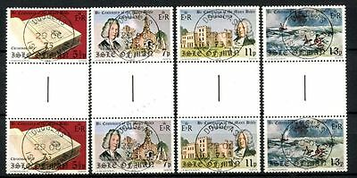 Isle Of Man 1975 SG#71-4 Christmas, Manx Bible Cto Used Gutter Pair Set #A33926