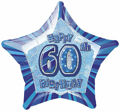 Blue 60th Birthday Helium Balloon -Party Decorations