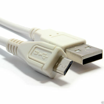 1m HQ Shielded USB 2.0 A To MICRO B Data and Charging Cable WHITE [006550]