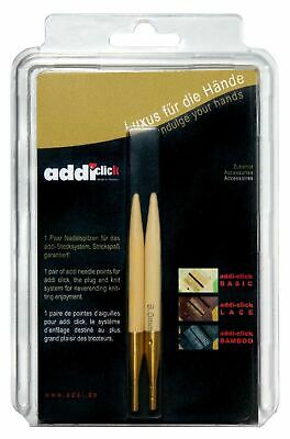 addi Click Bamboo Interchangeable Circular Knitting Needle Tips new