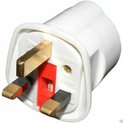 EAGLE Schuko Euro Plug Socket to 13A 3 Pin UK Plug Adapter White [006017]