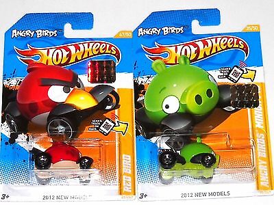 Hot Wheels Factory Set New Models Angry Birds Red Bird Minion Pig