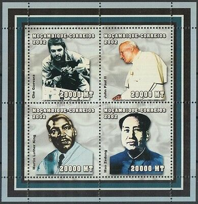 Mozambique stamp Famous people - chess mini-sheet MNH 2002 Mi 2495-2498 WS118767