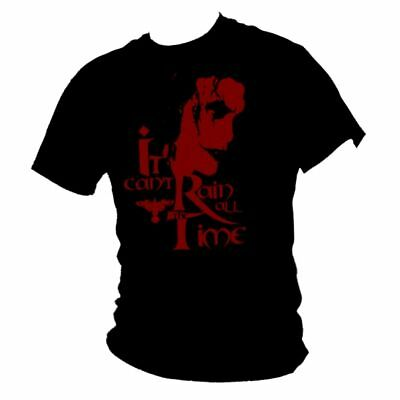 """The CROW - Brandon Lee - """"it can't rain all the time"""" cult film quote t-shirt"""