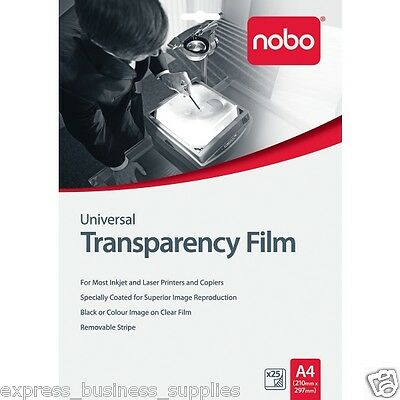 Nobo® OHP Universal Inkjet / Laser Transparency Film Pack of 25 – AAUF0025