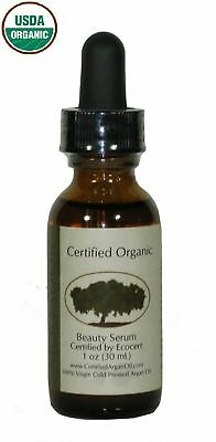 100% Pure cold-pressed Certified Organic Argan Oil 1 oz for Hair, Face & Body