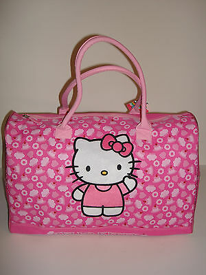 """Sanrio Hello Kitty Extra Large 20"""" Duffle Bag Pink Color"""
