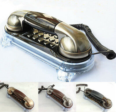 Novelty Vintage Retro Antique Classic Old Style Corded Telephone Wall Phone Desk