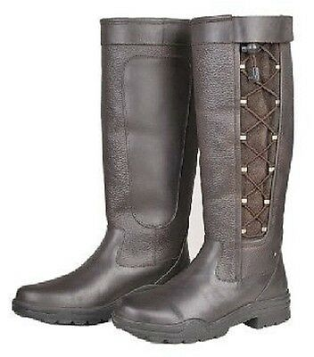 HKM Laced Leather boot -Madrid- 5149 Country Riding Yard Walking