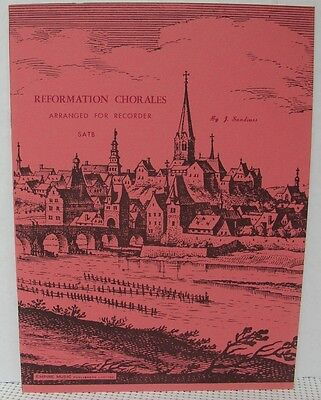 SATB RECORDER MUSIC REFORMATION CHORALES Sheet Music Book