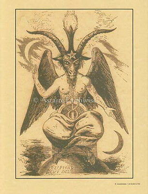 BAPHOMET as Envisaged by Eliphas Levi - Poster A4 Size Wicca Witch Pagan Occult
