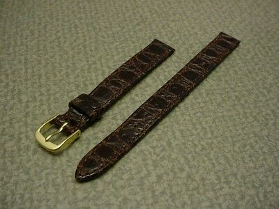 Ladies Brown Speidel NOS 11mm R241330BR Crocodile Grain Leather Watch Band W2068