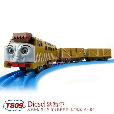 Tomy Trackmaster Thomas&friends Ts-09 Diesel 10 With 2 Trucks Motorized Train