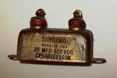Recovered Sangamo 0.05Mfd 600VDC capacitor