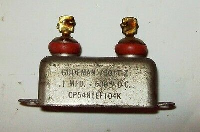 Recovered Gudeman 0.1Mfd 600VDC capacitor