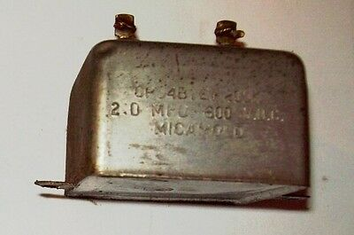 Recovered Micamold 2Mfd 600VDC capacitor