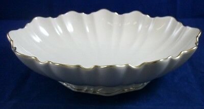 "Lenox SYMPHONY GOLD Oval Centerpiece Footed 10 5/8"" length GREAT CONDITION"