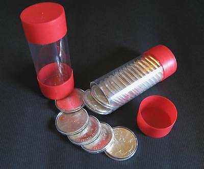 5 Air-tite Cap-Tube - Tite Coin Holders Model-H for Silver Eagle Dollar Bullion