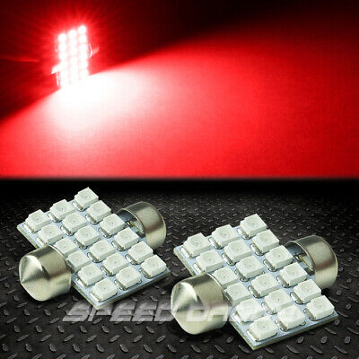 2 X 18 Smd 18Smd 31Mm Red 3528 5050 Led Interior Dome/map 12V Light Bulb Lamp