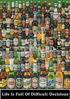 Poster Birra Life is full of difficult decisions Tutte le birre
