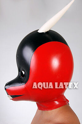 Fetish Inflatable Latex Rubber Dragon Hood, Latex Mask for Cosplay (Free Ship)