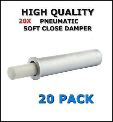 Soft Close Damper Buffer For Furniture Doors Kitchen Cabinet - SILVER - 20 PACK