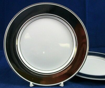Fitz & Floyd PLATINUM RONDELET 2 Bread & Butter Plates 109 GREAT CONDITION