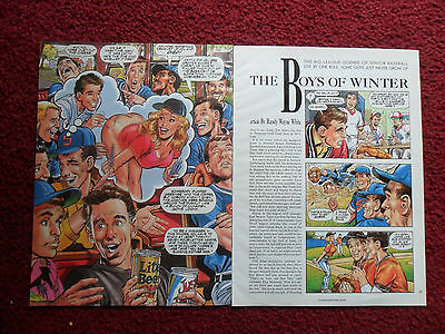 1990 Magazine Article 'The Boys of Winter' Randy Wayne White w/ Neal Adams ART