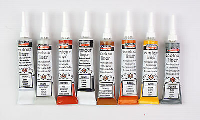 Pentart Contour Liner, Relief Outliner Paste for Glass Decoupage Scrapbook 20ml