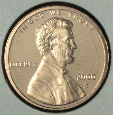 2000 S Proof Lincoln Memorial Cent Dcam Deep Cameo Uncirculated