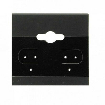 """New 100 Black Plain Hanging 2'' x 2"""" Earring Card With Lip Jewelry card display"""
