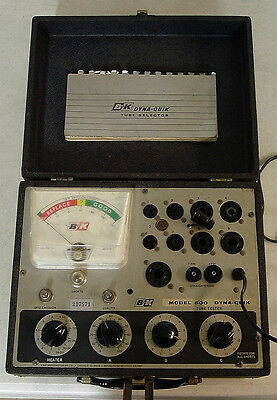 B&K Precision 600 Dyna-Jet Tube Tester  Instruction Manual & Schematic on CD