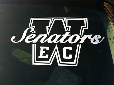 "East Chicago Washington Window Decals. White Vinyl ""ECW"""