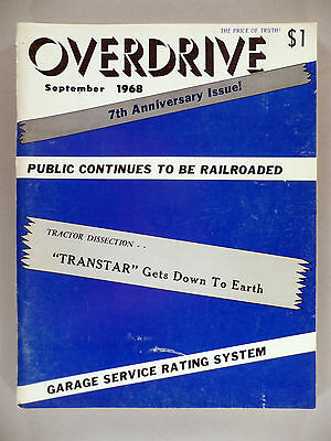 Overdrive Magazine - September, 1968 ~~ The Voice of the American Trucker
