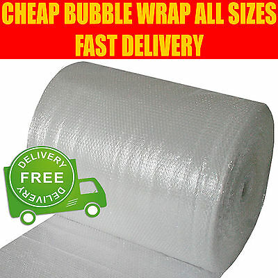 SMALL & LARGE BUBBLE WRAP - 300mm 500mm 600mm 750mm 900mm 1000mm x 10m 50m 100m