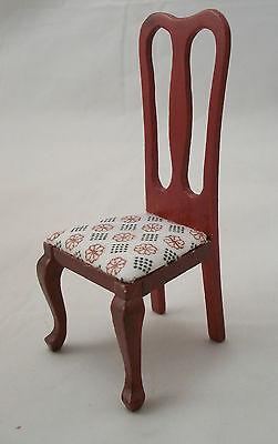 Side Chair dollhouse miniature wood furniture T3348 1/12 scale mahogany finish