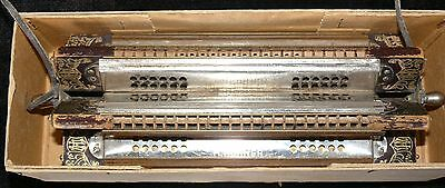 Antique 1900's Hohner Harmonica Sextet Six Sided Harmonica Rare Musical Horn