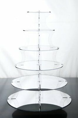 6 Tier Mirrored Wedding Cup Cake & Party Cupcake Stand