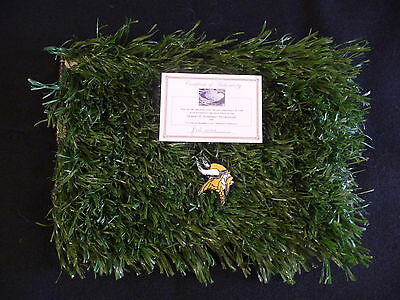 Game Used Turf! Brett Favre, Percy Harvin,Jared Allen, Chad Greenway, Winfield!