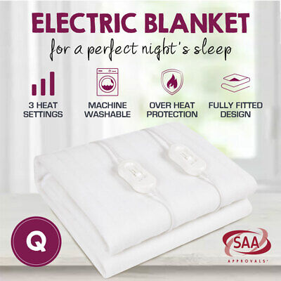 Smart Queen Size Fully Fitted Electric Blanket 2017 New Model Machine Washable