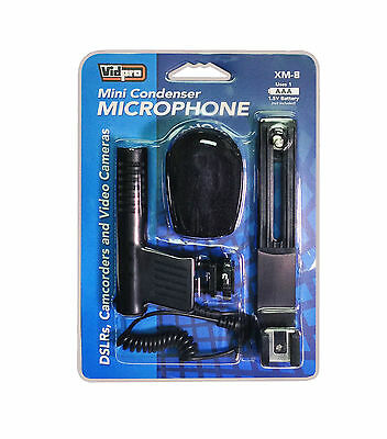 Vidpro Mini Condenser XM-8 Microphone for DSLR Cameras and Video Camcorders