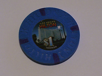 $1 HILTON LAS VEGAS Nevada Casino Poker Gaming House Chip