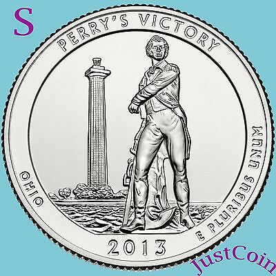 2013-S Perry's Victory Memorial (Ohio) Quarter Uncirculated From U.s. Mint Roll