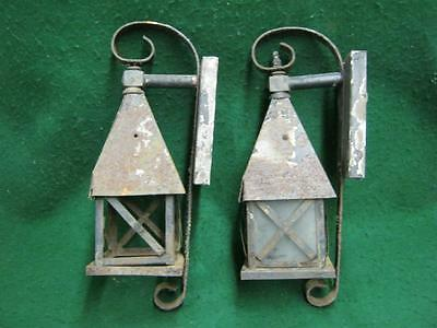 Pair of Antique Arts & Crafts Porch Light Sconces #1595-13