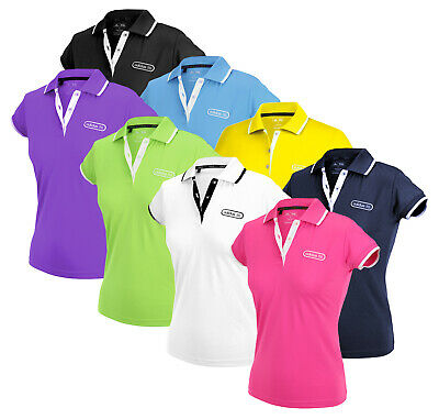 Adidas Womens FP Performance Patch Golf Polo Polos Shirt Top I Many Colors