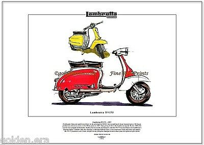 LAMBRETTA TV175 Scooter - Fine Art Print - Innocenti's Mods Italian Masterpiece