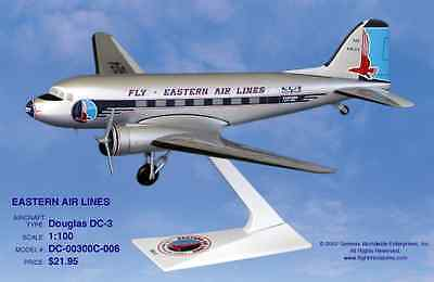 Flight Miniatures Eastern Airlines OLD Douglas DC-3 1:100 Scale New in Box