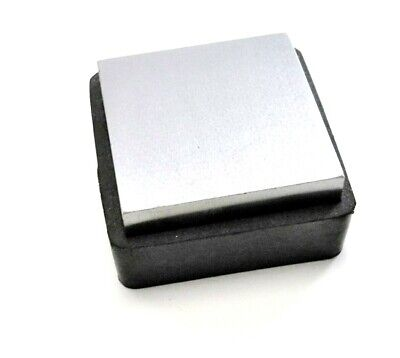 "Steel Bench Block W/ Rubber Base 2-1/2 x1"" Anvil & Rubber Jewelry Forming Tool"